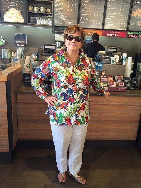 Lutterloh blouse front starbucks