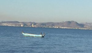 evening looking across at La Paz