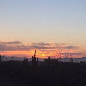 sunrise over la paz