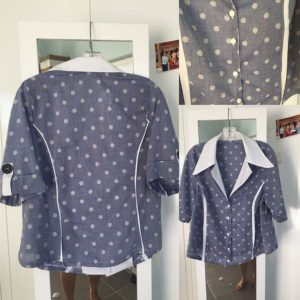 Lekala chambray blouse composite 2