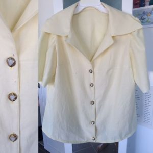Lutterloh summer 1976 blouse finished with buttons