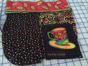 coffee purse fabric layout