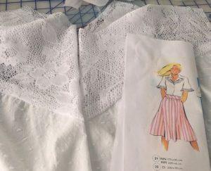 Lutterloh white blouse 157 21 yoke