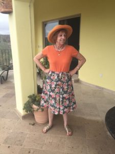 Mary in her first ever Lutterloh garment.